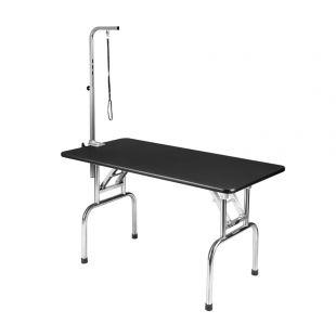 SHERNBAO Sulankstomas stalas su nerūdijančio plieno kojelėmis L, 120x60x68 cm