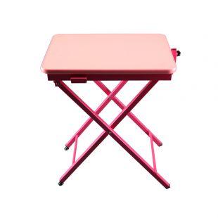 SHERNBAO X formos stalas rožinis, 60x45x71 cm