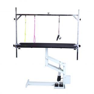 SHERNBAO Elektrinis Z kėlimo stalas, juodas, 124x64x50 cm