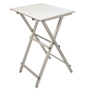 SHERNBAO Lengvai sulankstomas aliuminio stalas, sidabrinis, 60x45x81 cm