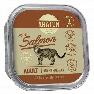 ARATON adult cat with salmon (suitable for sterilised), konservuotas suaugusių kačių pašaras 85 g
