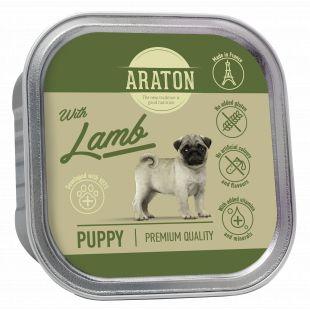 ARATON Puppy with lamb konservuotas pašaras jauniems šunims su ėriena 150 g