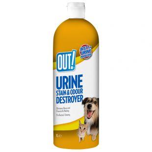 OUT! Dog Urine destroyer priemonė šunų šlapimo kvapui ir dėmėms naikinti, 1000 ml