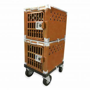 HYDROGROOM 100 Crate gyvūnų narvas dvigubas karamelinės spalvos