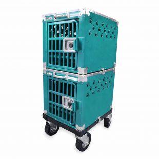 HYDROGROOM 100 Crate gyvūnų narvas dvigubas žalsvos spalvos