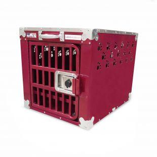 HYDROGROOM 100 Crate gyvūnų narvas viengubas aviečių spalvos