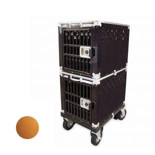 HYDROGROOM 200 Crate gyvūnų narvas dvigubas karamelinės spalvos
