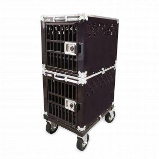HYDROGROOM 200 Crate gyvūnų narvas dvigubas violetinis