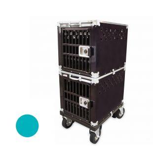 HYDROGROOM 200 Crate gyvūnų narvas dvigubas žalsvos spalvos