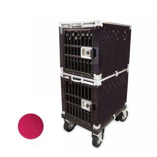 HYDROGROOM 200 Crate gyvūnų narvas dvigubas aviečių spalvos