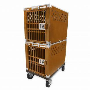 HYDROGROOM 300 Crate gyvūnų narvas dvigubas karamelinės spalvos