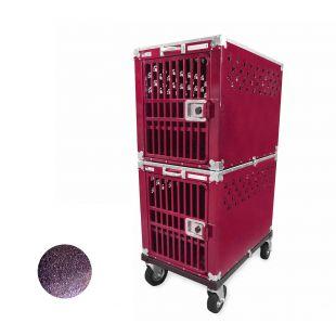 HYDROGROOM 300 Crate gyvūnų narvas dvigubas violetinis
