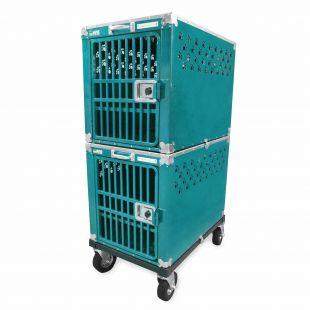 HYDROGROOM 300 Crate gyvūnų narvas dvigubas žalsvos spalvos
