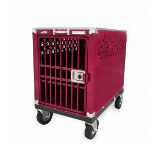 HYDROGROOM 400 Crate gyvūnų narvas viengubas aviečių spalvos