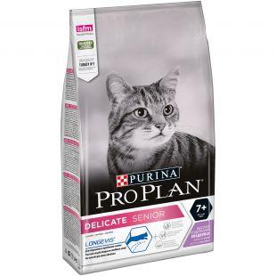 PRO PLAN LONGEVIS Delicate Senior Cat Turkey (7+ years), sausas pašaras senstančioms katėms su kalakutiena 1.5 kg