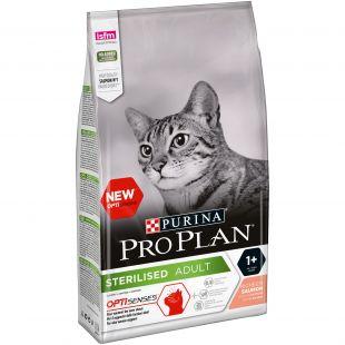 PRO PLAN OPTISENSES Sterilised Adult Cat Salmon, sausas pašaras suaugusioms sterilizuotoms katėms su lašiša 1.5 kg