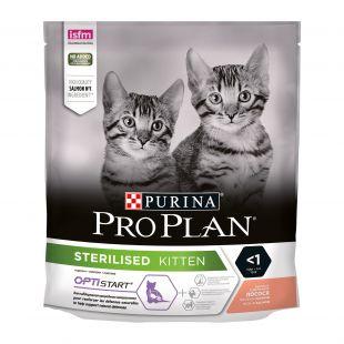 PRO PLAN Cat Sterilised Kitten (< 1 year) with OPTISTART, rich in salmon, sausas pašaras sterilizuotoms katėms su kalakutiena 400 g