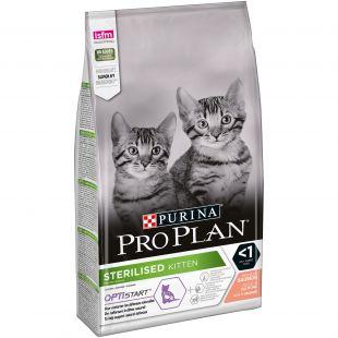 PRO PLAN OPTISTART Sterilised Kitten Salmon, sausas pašaras sterilizuotiems kačiukams su lašiša 1.5 kg