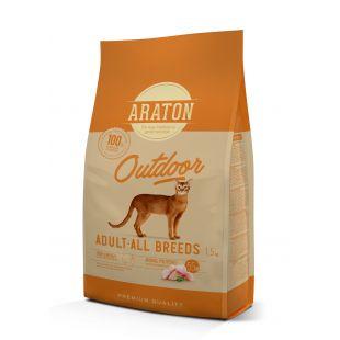 ARATON Outdoor Adult Poultry Sausas pašaras katėms 1.5 kg
