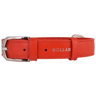 COLLAR GLAMOUR Odinis antkaklis raudonas, 3.5x46-60 cm
