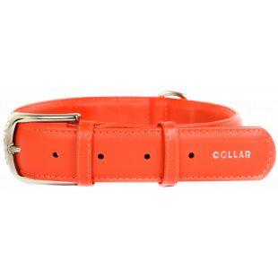 COLLAR GLAMOUR Odinis antkaklis oranžinis, 3.5x46-60 cm