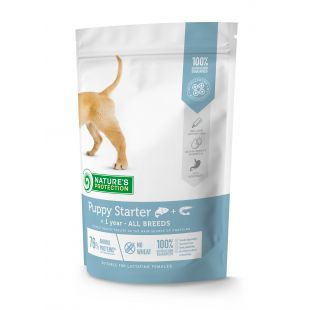 NATURE'S PROTECTION Puppy Starter All breeds Up to 1 year Salmon with krill Sausas pašaras šunims 500 g