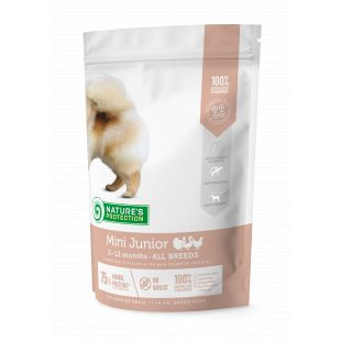 NATURE'S PROTECTION Mini Small breeds Junior 2-12 months Poultry Sausas pašaras šunims 500 g