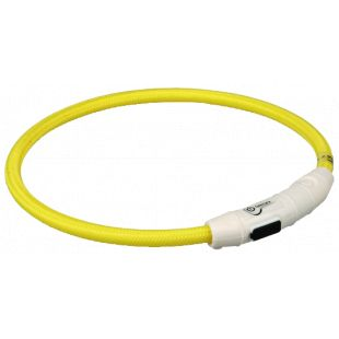 TRIXIE Šiečiantis antkaklis, pakraunamas  per USB geltonas 65 cm, L-XL