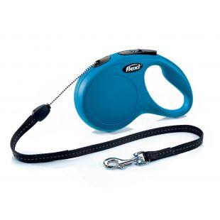 FLEXI Classic Pavadis, max 12kg, 8m virvelinis mėlynas, S