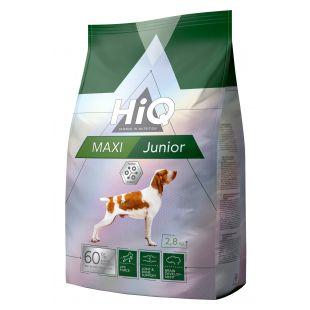 HIQ Maxi Junior Poultry Sausas pašaras šunims 2.8 kg