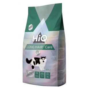 HIQ LongHair care Pašaras katėms 6.5 kg