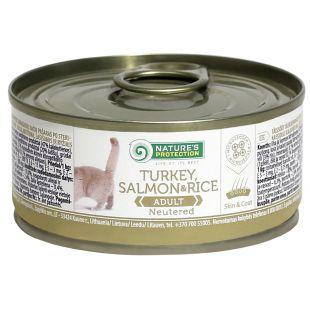 NATURE'S PROTECTION Cat Neutered Turkey, Salmon&Rice Konservuotas pašaras 100 g
