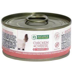 NATURE'S PROTECTION Cat Chicken&Cheese Konservuotas pašaras 100 g