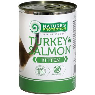 NATURE'S PROTECTION Kitten Turkey&Salmon Konservuotas pašaras 400 g
