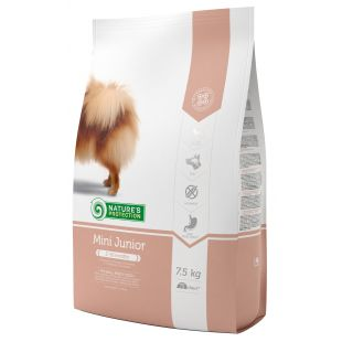 NATURE'S PROTECTION Mini Small breeds Junior 2-12 months Poultry Sausas pašaras šunims 7.5 kg