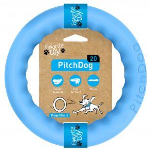 PULLER PitchDog Žaislas šunims 20 žiedas mėlynas, 20 cm