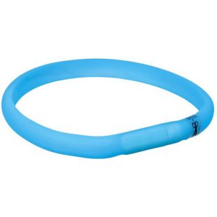 TRIXIE Šviečiantis mėlynas silikoninis antkaklis 50 cm, M-L
