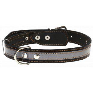 HIPPIE PET odinis antkaklis su atspindinčia juosta juodas, 2x32-40 cm