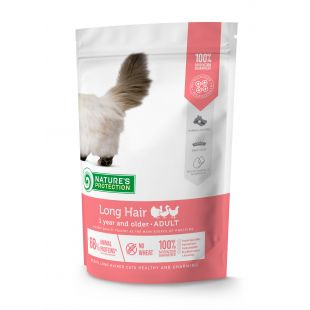 NATURE'S PROTECTION Longhair Adult 1 year and older Poultry  Sausas pašaras katėms 400 g