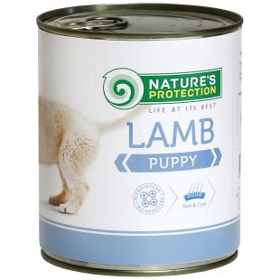 NATURE'S PROTECTION Puppy Lamb Konservuotas pašaras šunims 800 g x 4