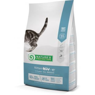 NATURE'S PROTECTION Kitten Up to 1 year Poultry with krill Sausas pašaras katėms 2 kg