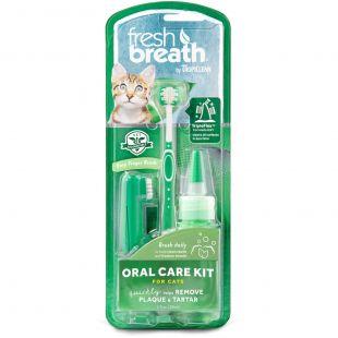 FRESH BREATH Rinkinys dantų priežiūrai, katėms Žalia