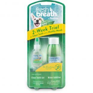 FRESH BREATH rinkinys dantų priežiūrai, bandomasis Žalia