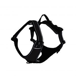 DOCO Vertex atspindinčios šviesą petnešos šunims juodos, S dydis