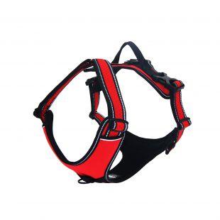 DOCO Vertex atspindinčios šviesą petnešos šunims raudonos, XL dydis