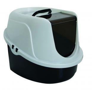 M-PETS Kačių tualetas 60.2 x 45.1 x 42.4 cm,  baltas-juodas