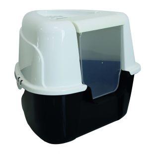 M-PETS Kačių tualetas 60 x 50 x 44 cm,  baltas-juodas