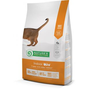 NATURE'S PROTECTION Indoor Adult 1 year and older Poultry Sausas pašaras katėms 2 kg