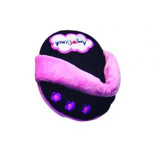 AMY CAROL Žaislas šlepetė Black 10cm x 13cm