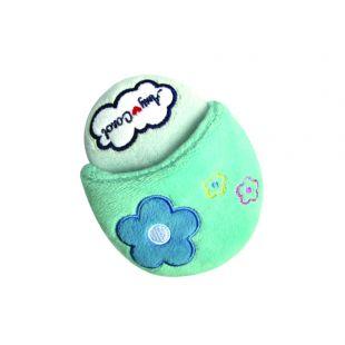 AMY CAROL Žaislas šlepetė Aqua blue 10cm x 13cm mėlynas-rožinis